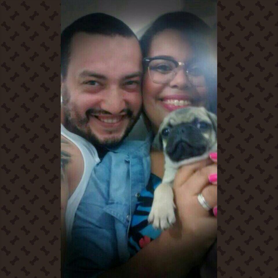 Jordana & Rafael com filhote Brush – Vila Velha/ES