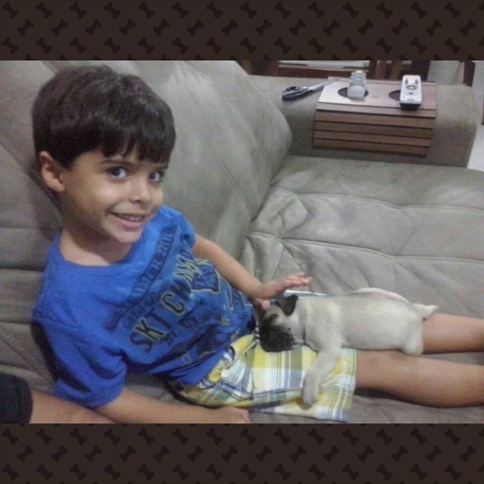 Gabriel com filhote Hulk – Ipatinga/MG