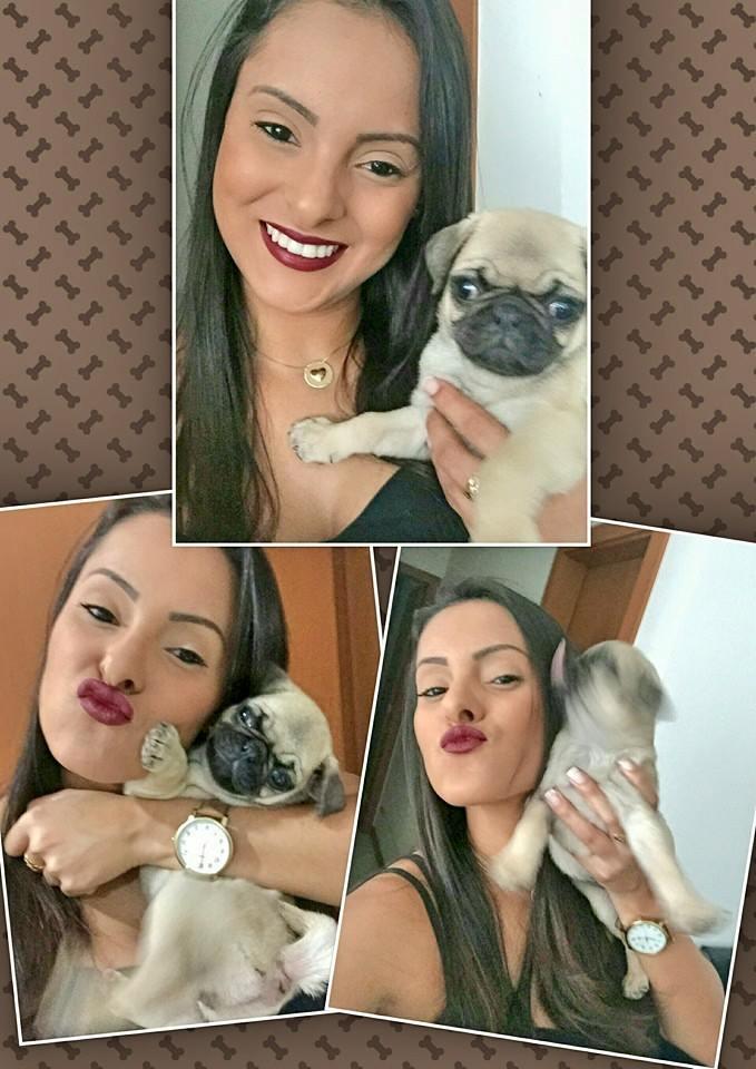 Daiany com filhote Mia - Praia da Costa/ES