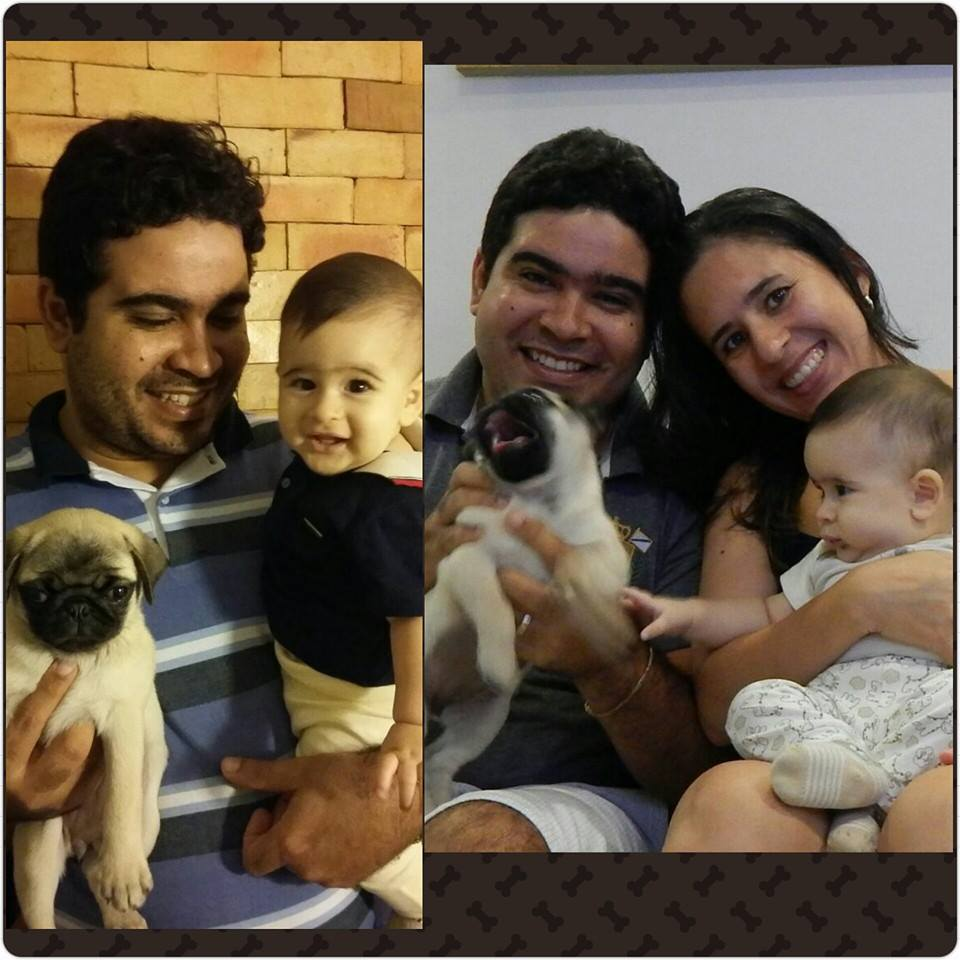 Wilson & Dayana com seu filho Benjamim e o filhote Belinha – Itabuna/BA
