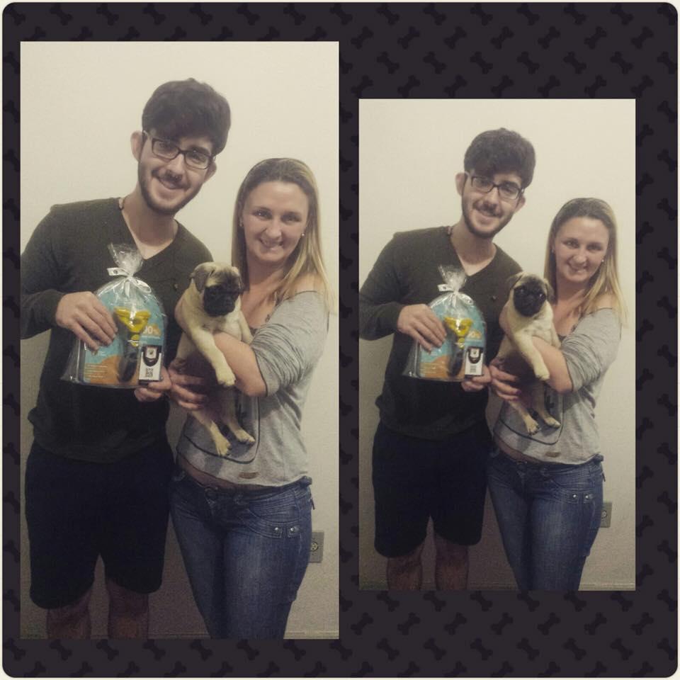 Danilo e a amiga Janine com filhote Frederico – Belo Horizonte/MG