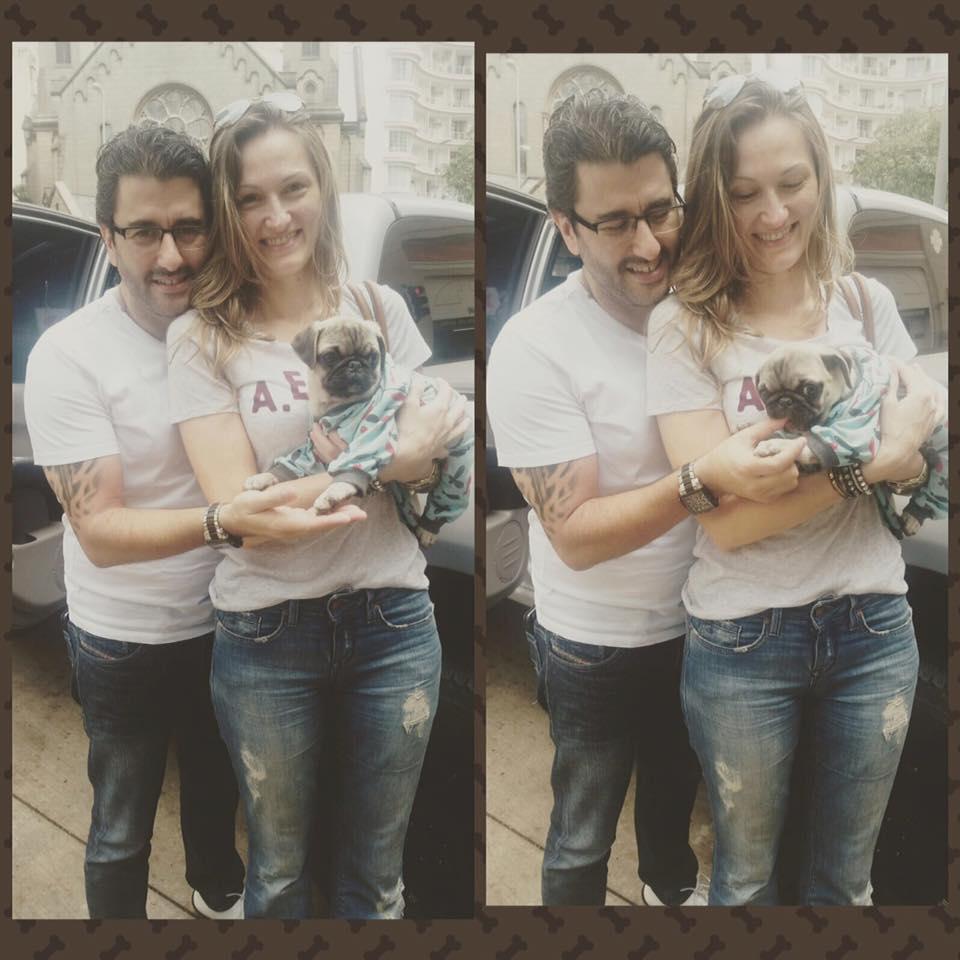 Eduardo & Adriana com filhote Mel – São Paulo/SP