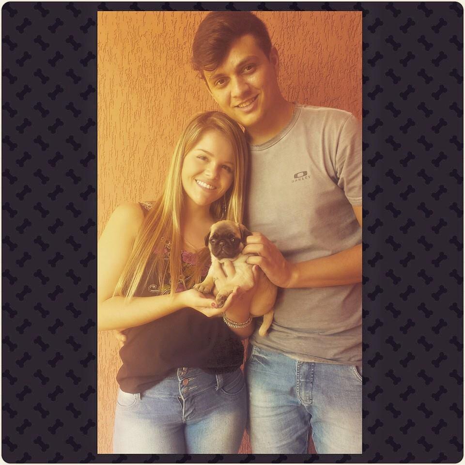 Amanda Andrade & Fernando com filhote Linda – Divinópolis/ MG
