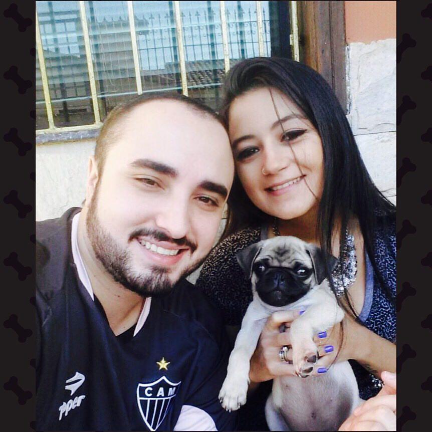 Marcos & Elicia com o filhote Brutus - Belo Horizonte/MG