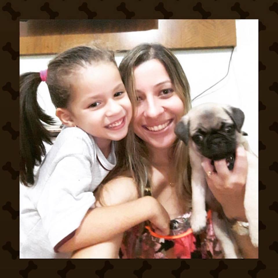 Virgínia e sua filha Sara com o filhote Francisco - Belo Horizonte/MG