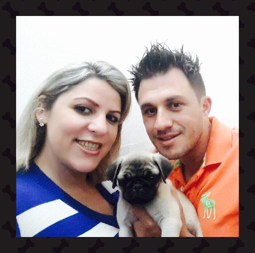 Tatiane & Kadu com o filhote Thor - São Paulo/SP