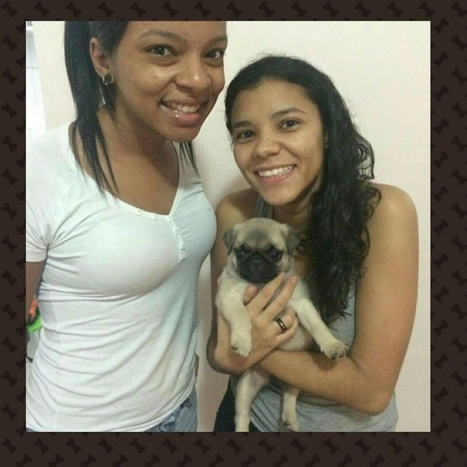 Camila & Adriane com o filhote Agnes - Belo Horizonte/MG