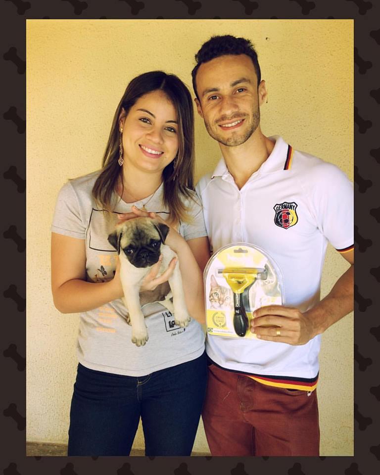 Camila & Gabriel com o filhote Bruce - Belo Horizonte/MG