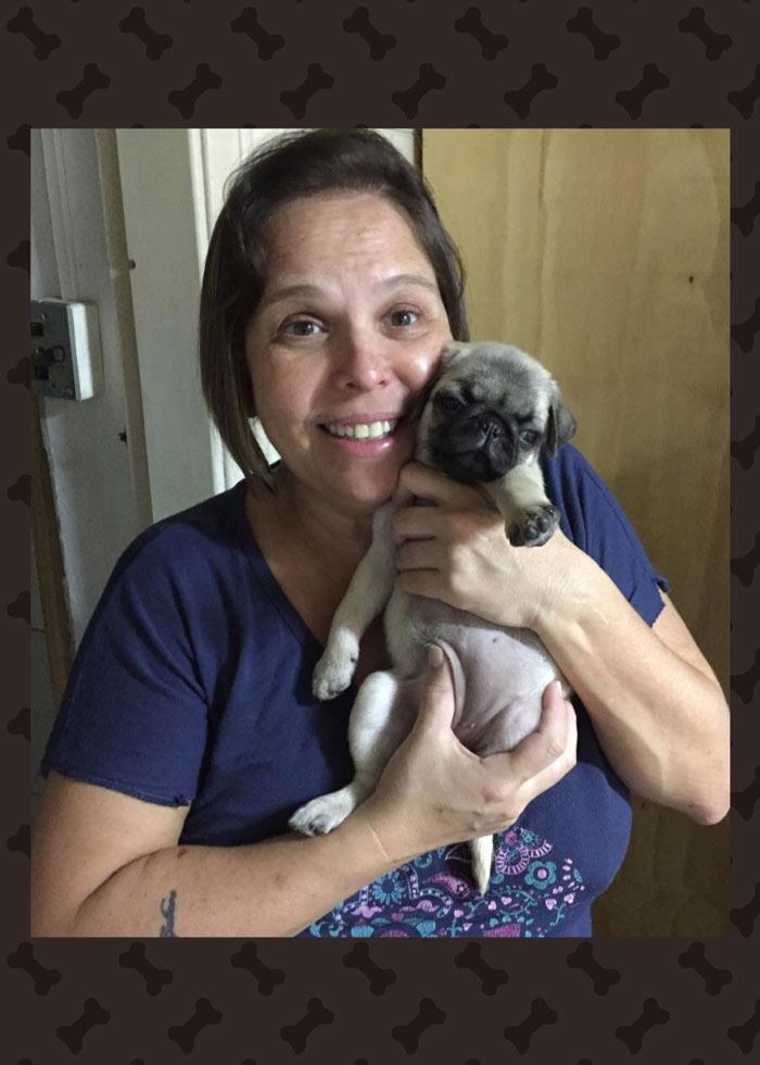 Ana Matos com o filhote Pandora - São Paulo/SP