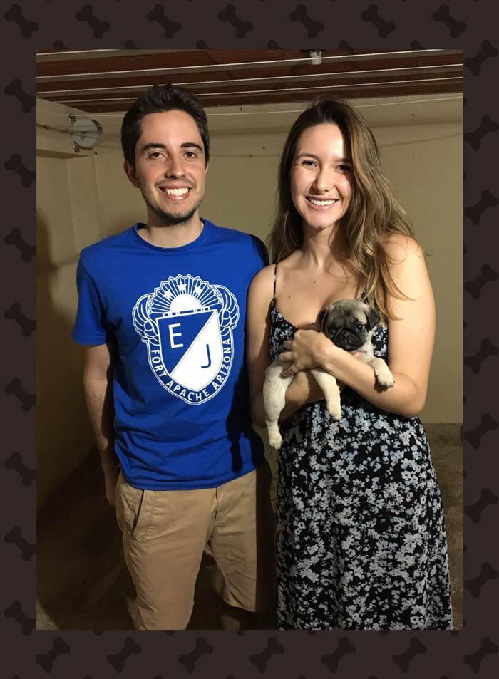 Diogo & Isabela com o filhote Bóris - Belo Horizonte/MG