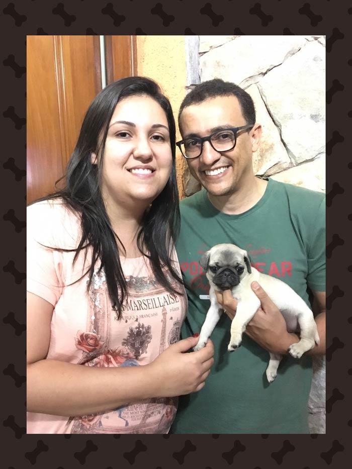 Marise & Kléber com o filhote Meg - Belo Horizonte/MG
