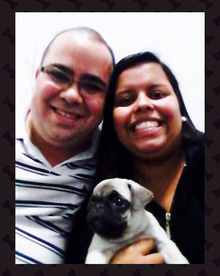 Fernando & Juliana com o filhote Scooby - São Paulo/SP