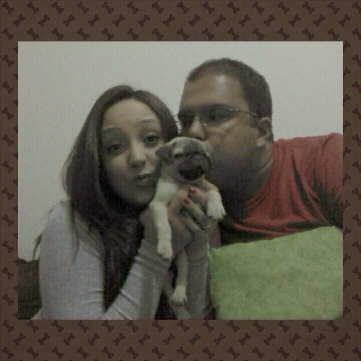 Iasmin e André com a filhote Zooey - Contagem/MG